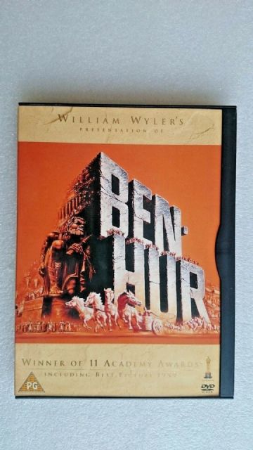 Ben-Hur (DVD, 1999) Rare Early Black Clip Case Design